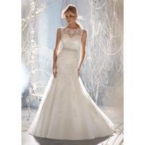 Vestido De Noiva Longo Concha Silhueta De Sereia