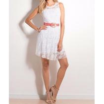 Vestido Branco De Renda - Casamento Civil - Reveillon