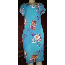 Vestido Estampa Floral Crepe De Seda Tamanho M