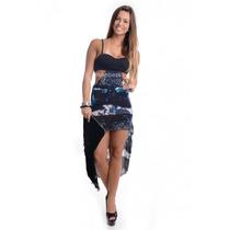 Vestido Feminino Corte Mullet - Kam Bess - Ve0291