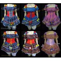 Vestido Plus Size Junino Adulto Festa Junina Caipira 52/56