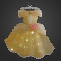 Vestido Princesa Bela Com Luz Original Disney P/entrega