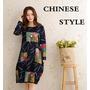 Lindo Vestido Estilo Bata Chinesa 2015 Com Frete Grátis