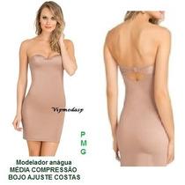Anágua Vestido Pele Modelador Cinta P M G Gg Body Bore Saia