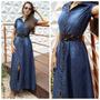 Vestido Jeans Longo Deluxe Degradê Hnt 2183