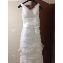 Vestido De Noiva Branco - Organza Floral - Decote V