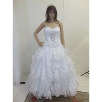 Vestido De Noiva Semi-novo, Bordado A Mão!