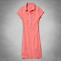 Vestido Abercrombie Polo Rosal - Original - Importado