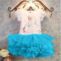 Vestido Fantasia Frozen Infantil Pronta Entrega