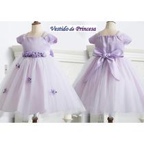 Vestido Festa Infantil Luxo Dama Florista - Pronta Entrega