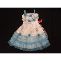 Vestido Infantil Festa/dama/florista Estampa E Flores 12