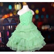 Vestido Infantil Festa/princesa Tinker , Tiana Tamanho 6