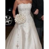 Vestido De Noiva Luddy Ferreira Com Cristais Swarovski