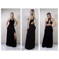Vestido Longo Moda Verão 2016 Com Fenda Blogueiras Revenda