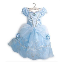 Vestido Fantasia Cinderela Infantil