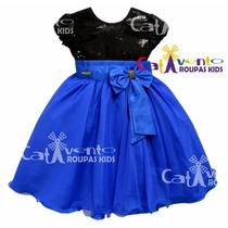 Vestido Festa Infantil Com Tiara De Cabelo