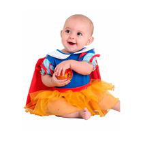 Fantasia Body Princesa Branca De Neve Rubi Bebê 3 A 12 Meses