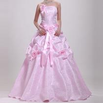 Vestido Rosa Para Festa Debutante 15 Anos Pronta Entrega