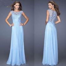 Vestido Lindo Festa Madrinha Casamento Azul Ceu Barato !
