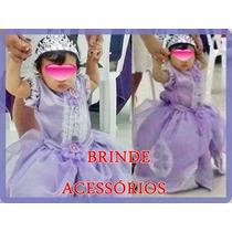 Vestido Princesinha Sofia Com Saiote -princess Sophia