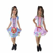 Vestido De Festa Junina,caipira,junino,infantil - 2 Vestidos