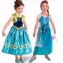 Vestido Frozen Fever Fantasia 3 A 10 Anos Pronta Entrega
