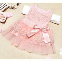 Vestido Infantil Menina Bebe Renda - Pronta Entrega