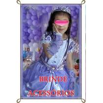 Vestido Princesinha Sofia Com Saiote