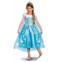 Vestido Fantasia Elsa Frozen 3 E 4 Anos Pronta Entrega