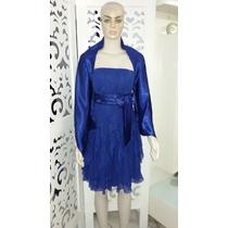 Lindo Vestido Azul Royal Curto De Festa Novíssimo