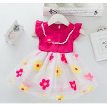 Vestido Ciança Infantil Menina Festa Princesa -frete Grátis