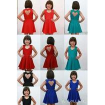 Vestido Infantil Atacado 10 Coração Costas Barato Fim De Ano