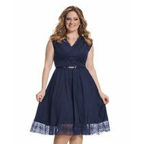 Moda Plus Size - Vestido Renda Lindo!!