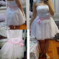 Vestido Branco Curto Para Noiva Ou Debutante Novo!!!