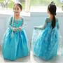 Fantasia Frozen Anna E Elsa Menina Infantil - Pronta Entrega