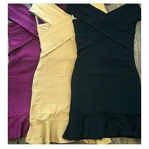 Vestido Cruzado Bandage - Pacote De Atacado 6 Peças