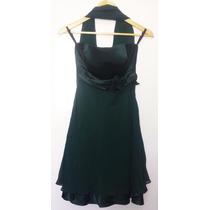 Vestido Longuete Saia Drapeada - Verde - Tam. G - Lindo!