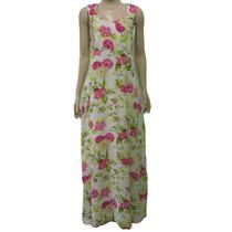 Vestido Longo Feminino Estampado Florido Casual Casamento