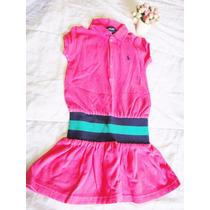 Vestido Polo Ralph Lauren Tam 4 (á Partir 3 Anos)