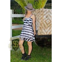 Vestido Country Estampa Exclusiva C/ Renda Selaria Guiricema