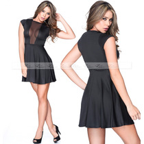 Vestido Feminino Plus Size Panicats Gordinha Tule Saia Godê