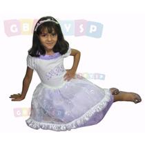 Vestido De Festa Infantil Princesa - Lilás - Frete Grátis