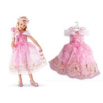 Fantasia Princesa Aurora Bela Adormecida Vestido Festa