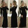 Vestido Longo Luxury - Fenda - Moda Outono