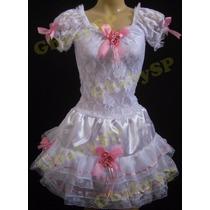 Vestido Noiva Junino Adulto Festa Junina Caipira Renda Luxo