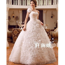 Vestido De Noiva/princesa Floral Pronta Entrega - Tamanho 10
