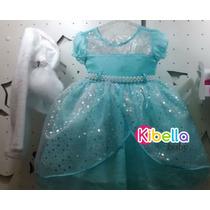 Vestido Frozen Luxo Cattai C/ Bolero - Tam. 1 Ao 12