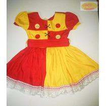 Vestido Emilia Infantil Luxo Fantasia