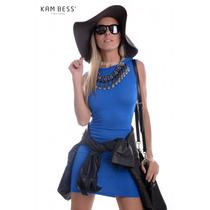 Vestido Com Detalhe Nas Costas - Kam Bess - Ve0572