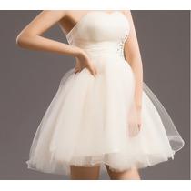 Vestido De Noiva Debutante Curto - Novo - Pronta Entrega